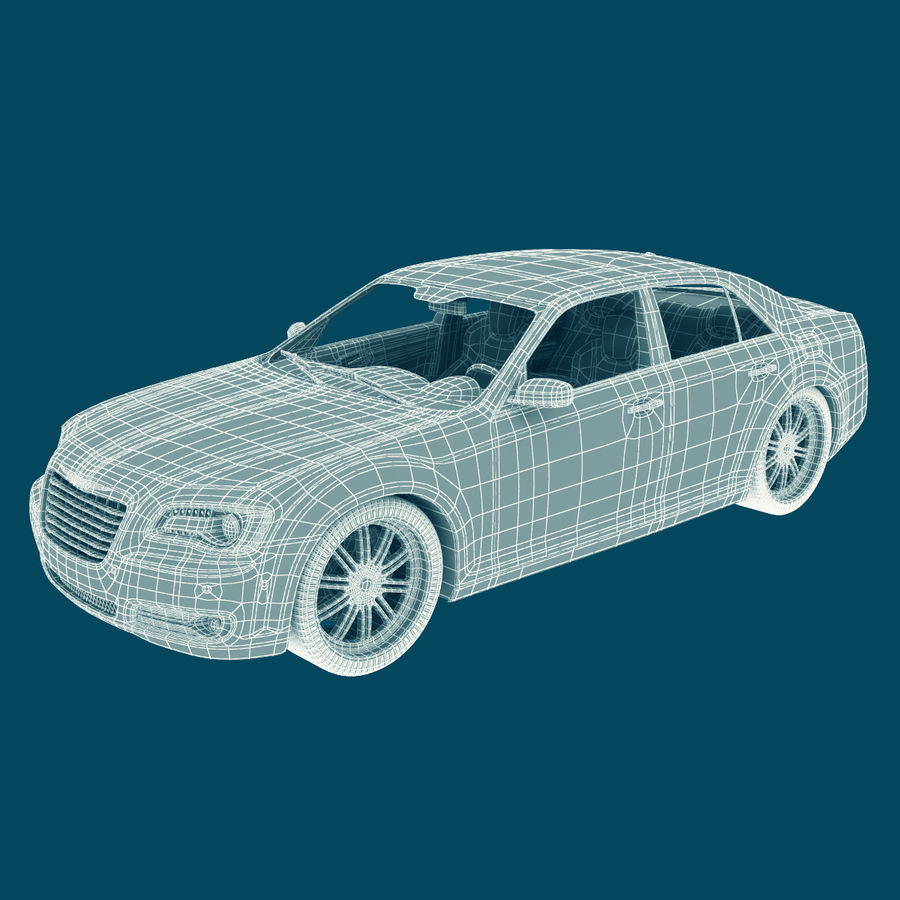 Chrysler 300 s royalty-free 3d model - Preview no. 18