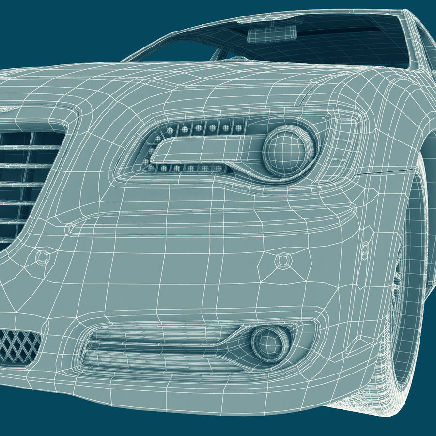 Chrysler 300 s royalty-free 3d model - Preview no. 25