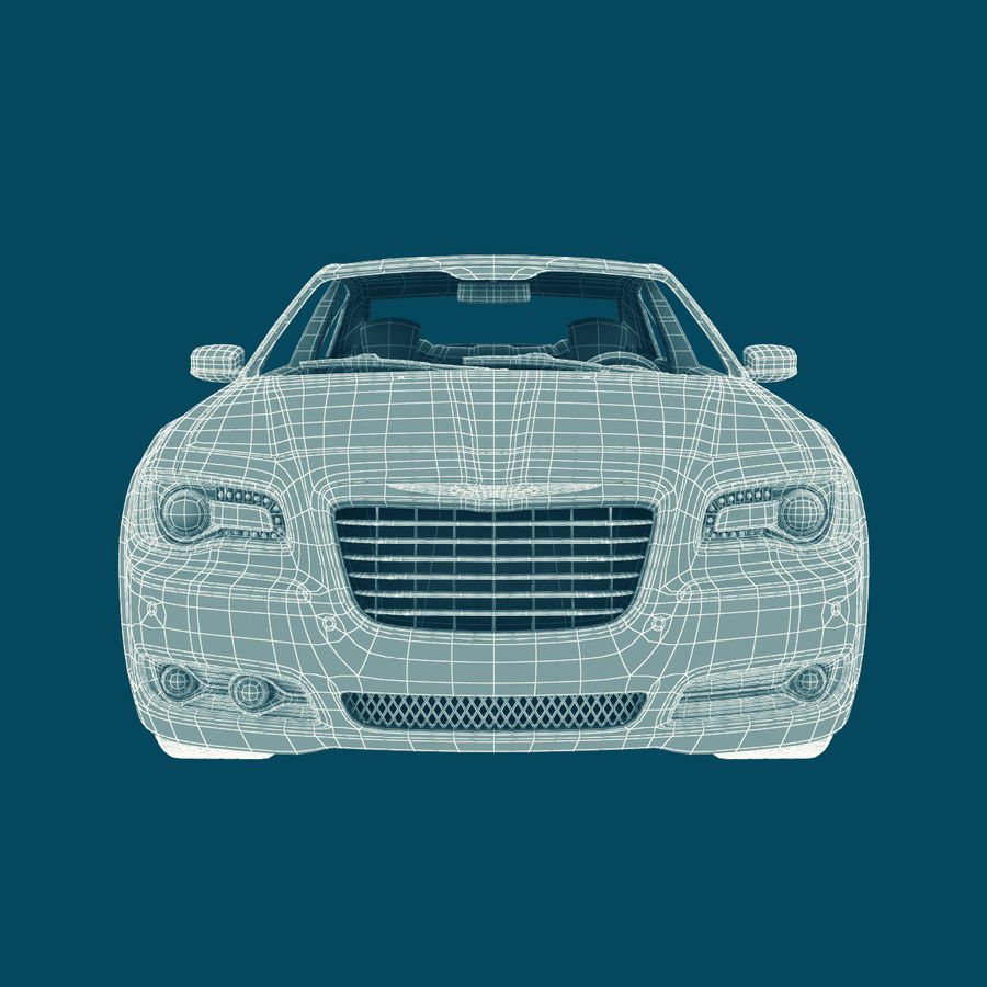 Chrysler 300 s royalty-free 3d model - Preview no. 21