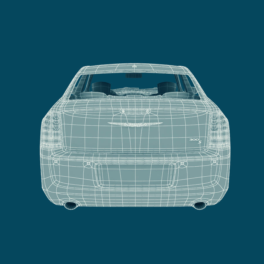 Chrysler 300 s royalty-free 3d model - Preview no. 22