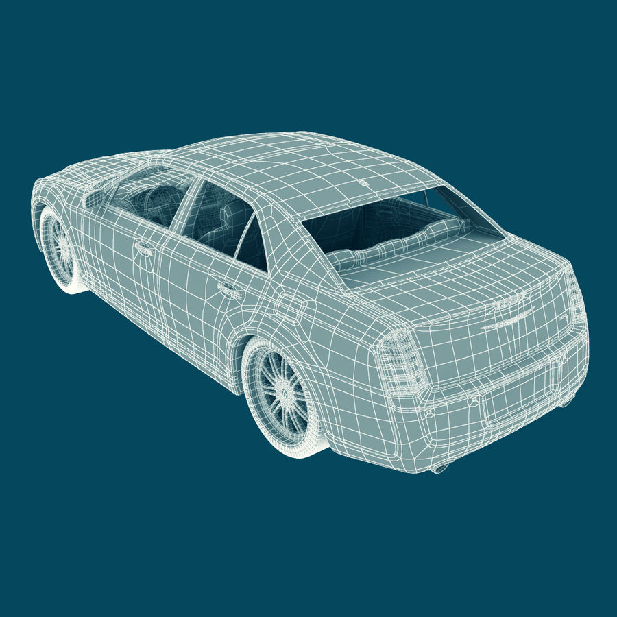 Chrysler 300 s royalty-free 3d model - Preview no. 19