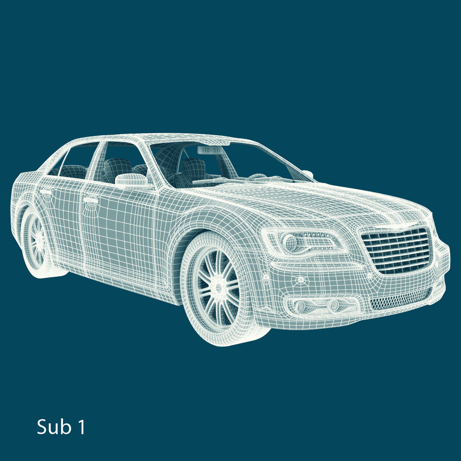 Chrysler 300 s royalty-free 3d model - Preview no. 17