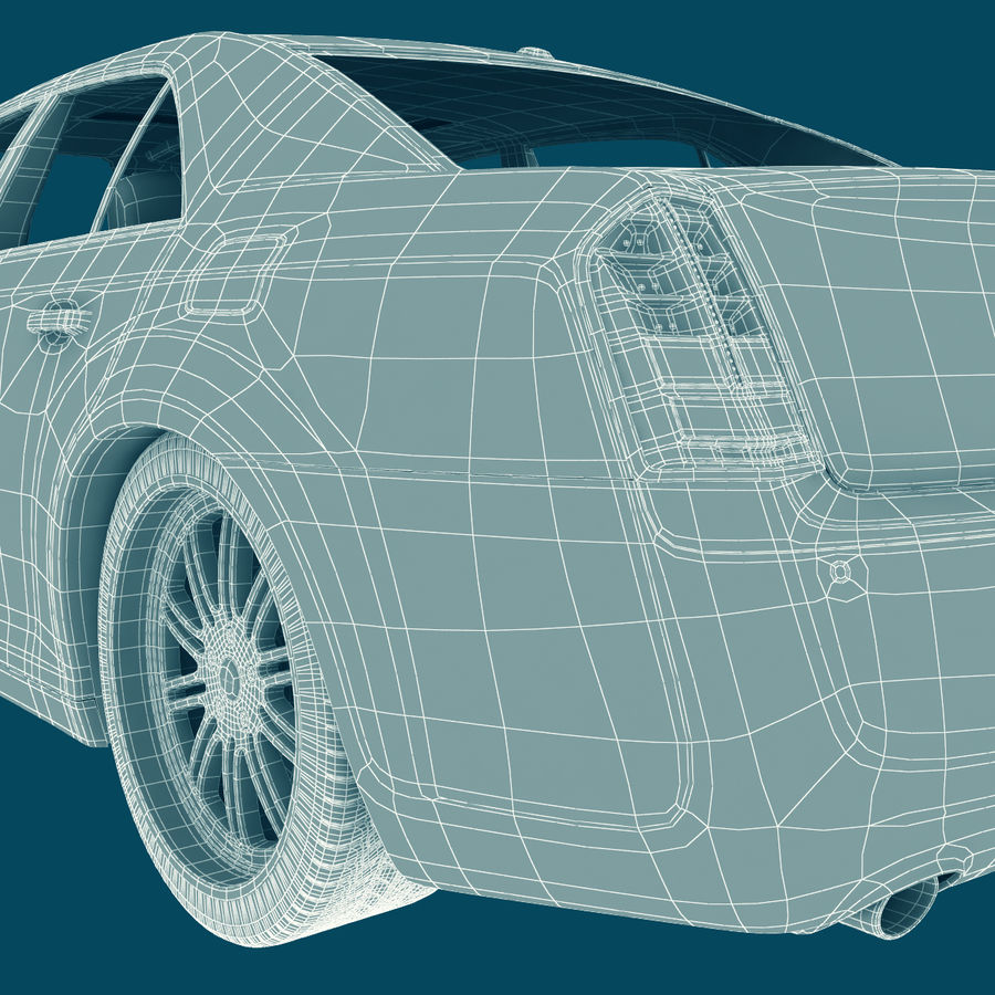 Chrysler 300 s royalty-free 3d model - Preview no. 24