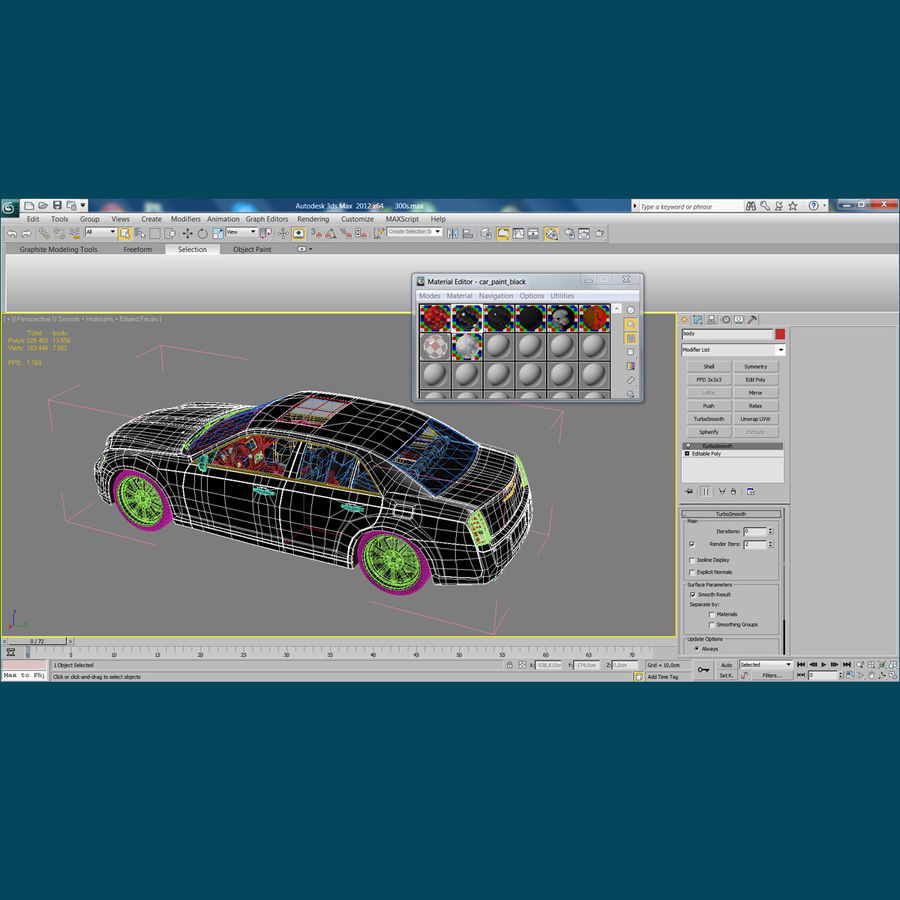 Chrysler 300 s royalty-free 3d model - Preview no. 30