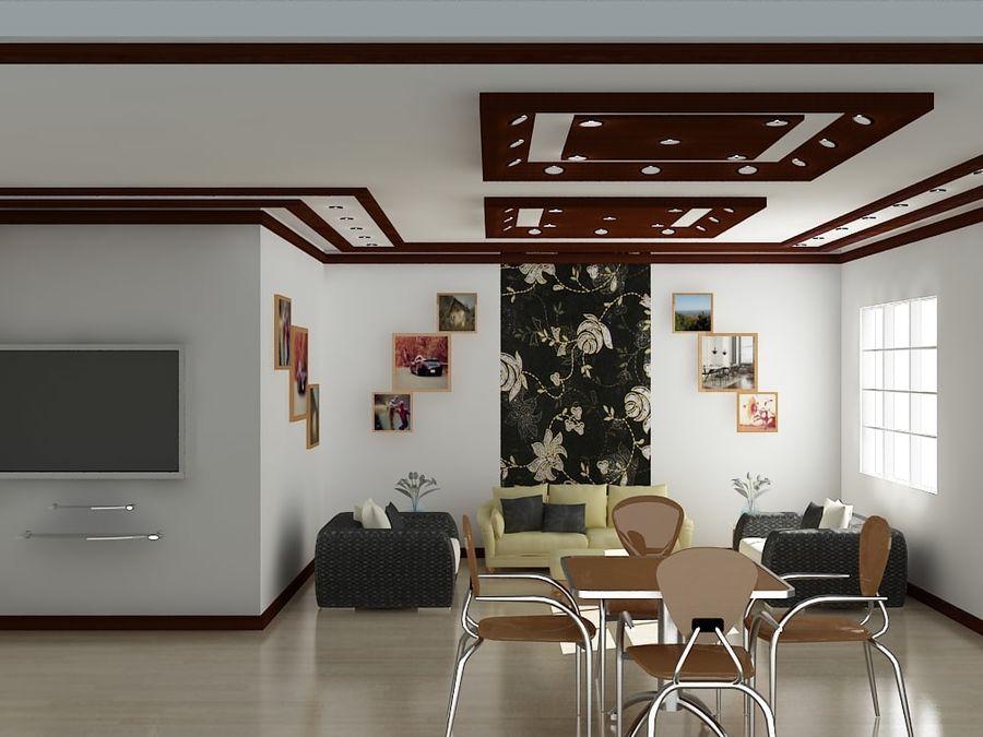 Realistiskt inredningsrum royalty-free 3d model - Preview no. 2