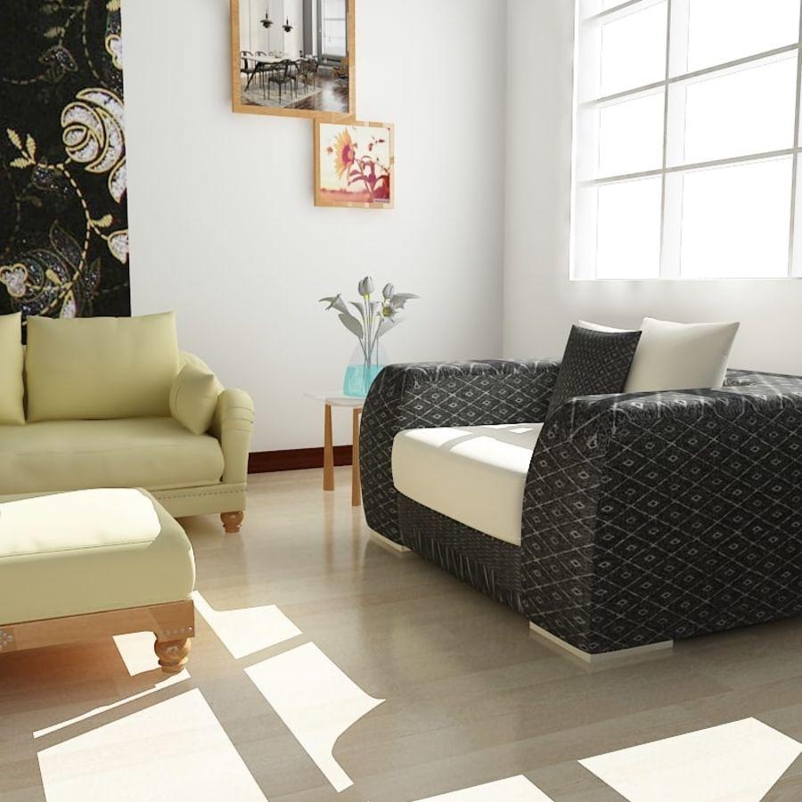 现实的室内空间 royalty-free 3d model - Preview no. 3