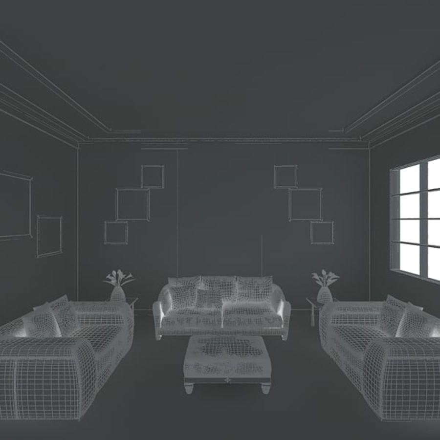 现实的室内空间 royalty-free 3d model - Preview no. 6