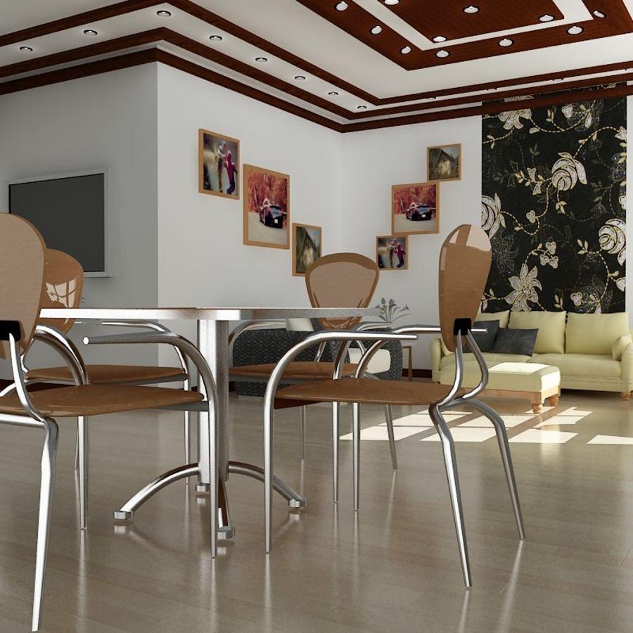 Realistiskt inredningsrum royalty-free 3d model - Preview no. 4