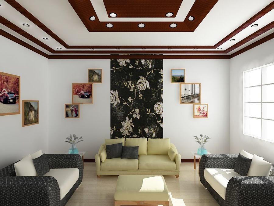 现实的室内空间 royalty-free 3d model - Preview no. 1