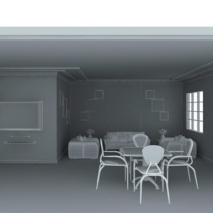 现实的室内空间 royalty-free 3d model - Preview no. 5