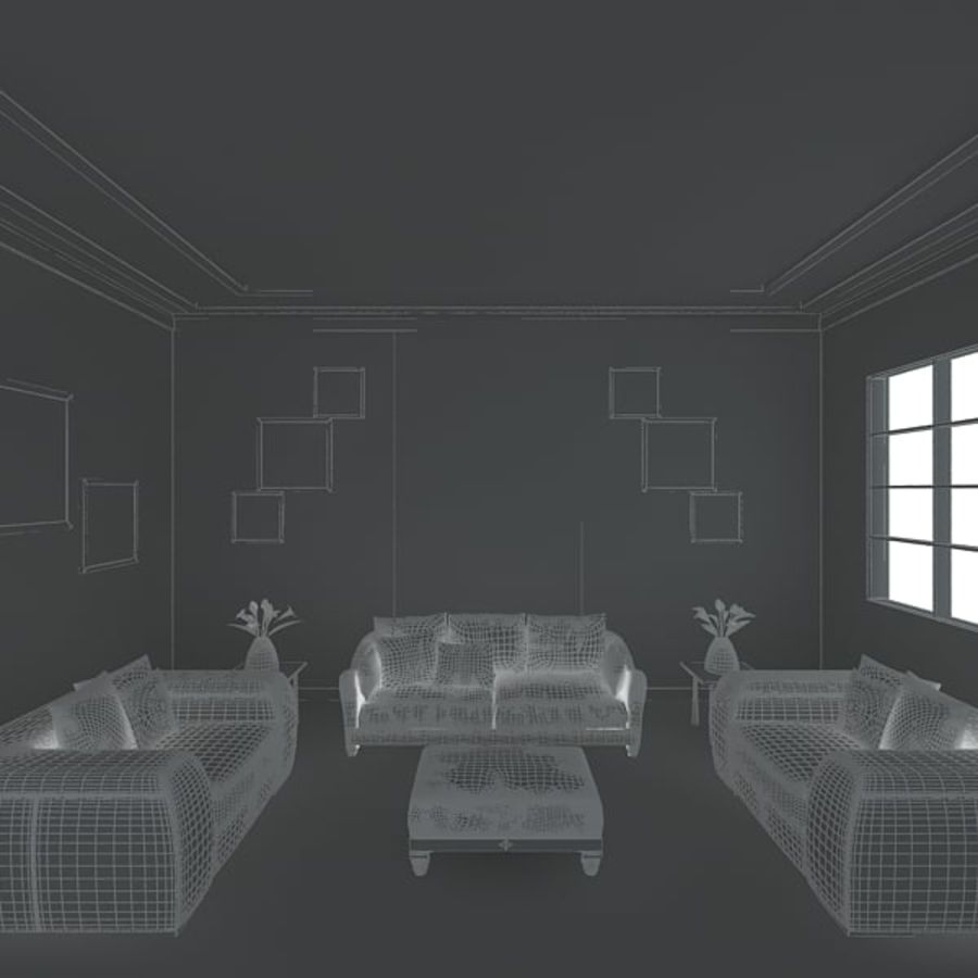 Realistic Interior Room royalty-free 3d model - Preview no. 6