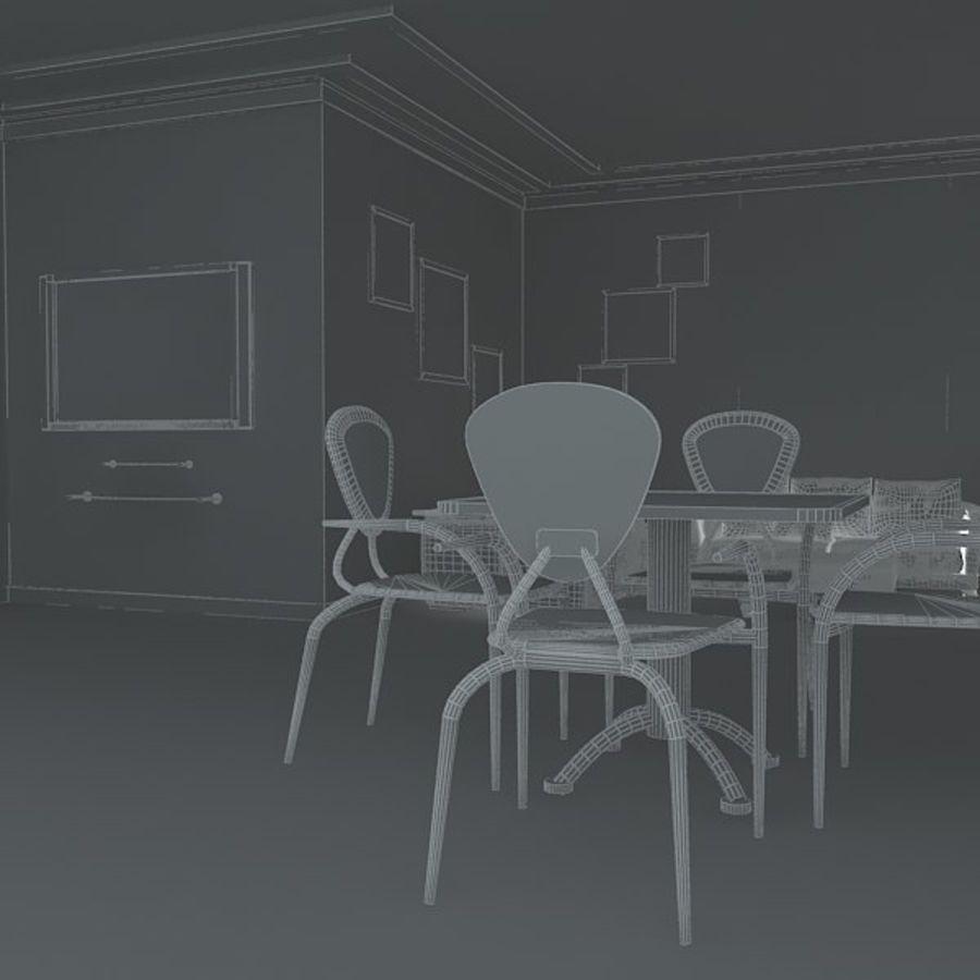 Realistiskt inredningsrum royalty-free 3d model - Preview no. 7