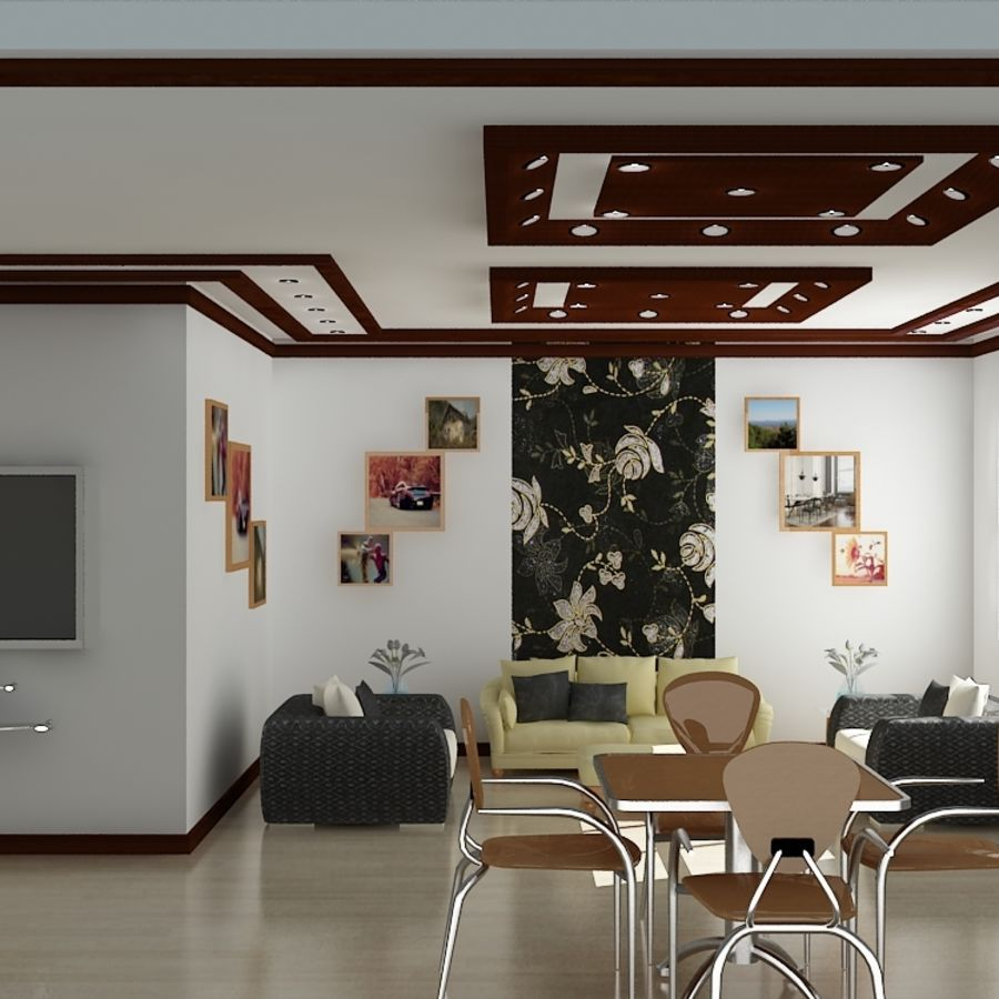 Realistic Interior Room royalty-free 3d model - Preview no. 2