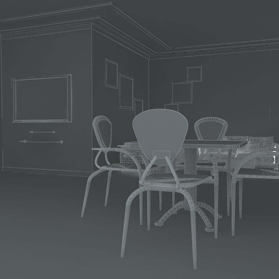 Realistic Interior Room royalty-free 3d model - Preview no. 7