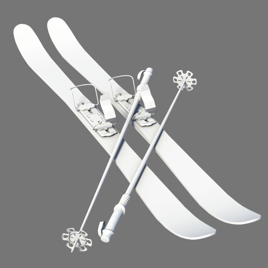 ski board 01 royalty-free 3d model - Preview no. 1