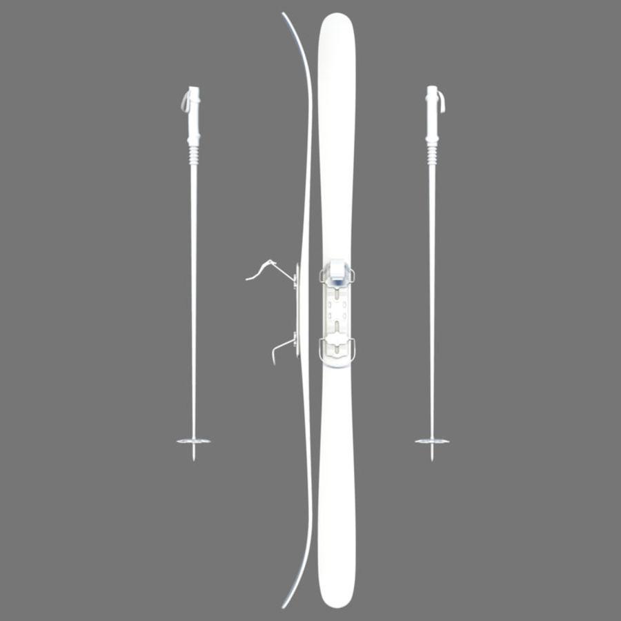 ski board 01 royalty-free 3d model - Preview no. 4