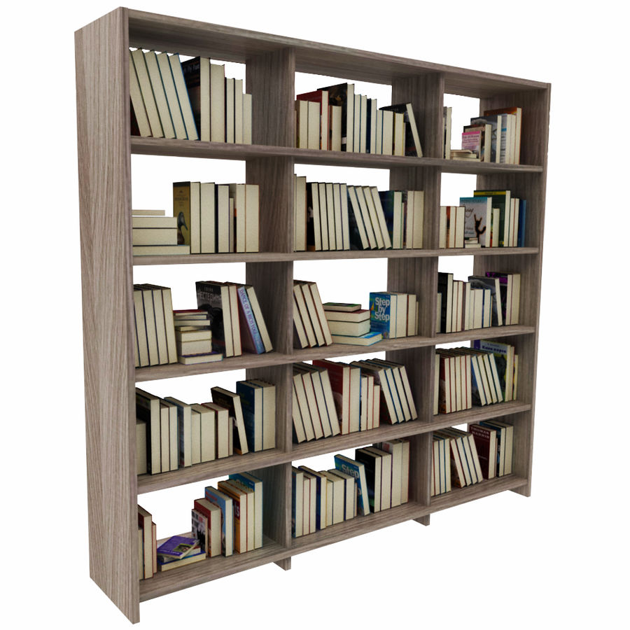 bokhylla bokböcker royalty-free 3d model - Preview no. 6