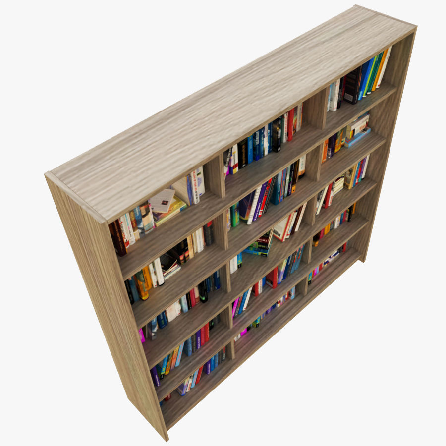 bokhylla bokböcker royalty-free 3d model - Preview no. 3