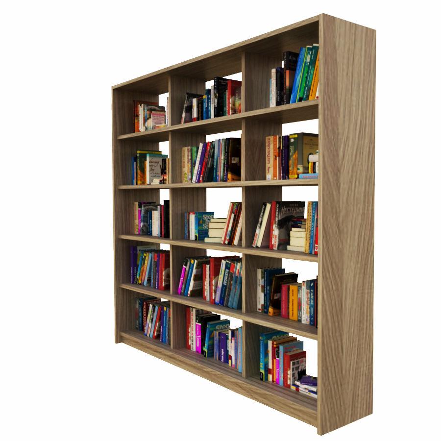 bokhylla bokböcker royalty-free 3d model - Preview no. 5