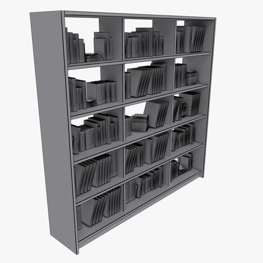 bokhylla bokböcker royalty-free 3d model - Preview no. 13