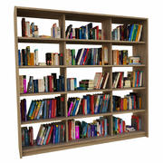 Bücherregal Bücher 3d model