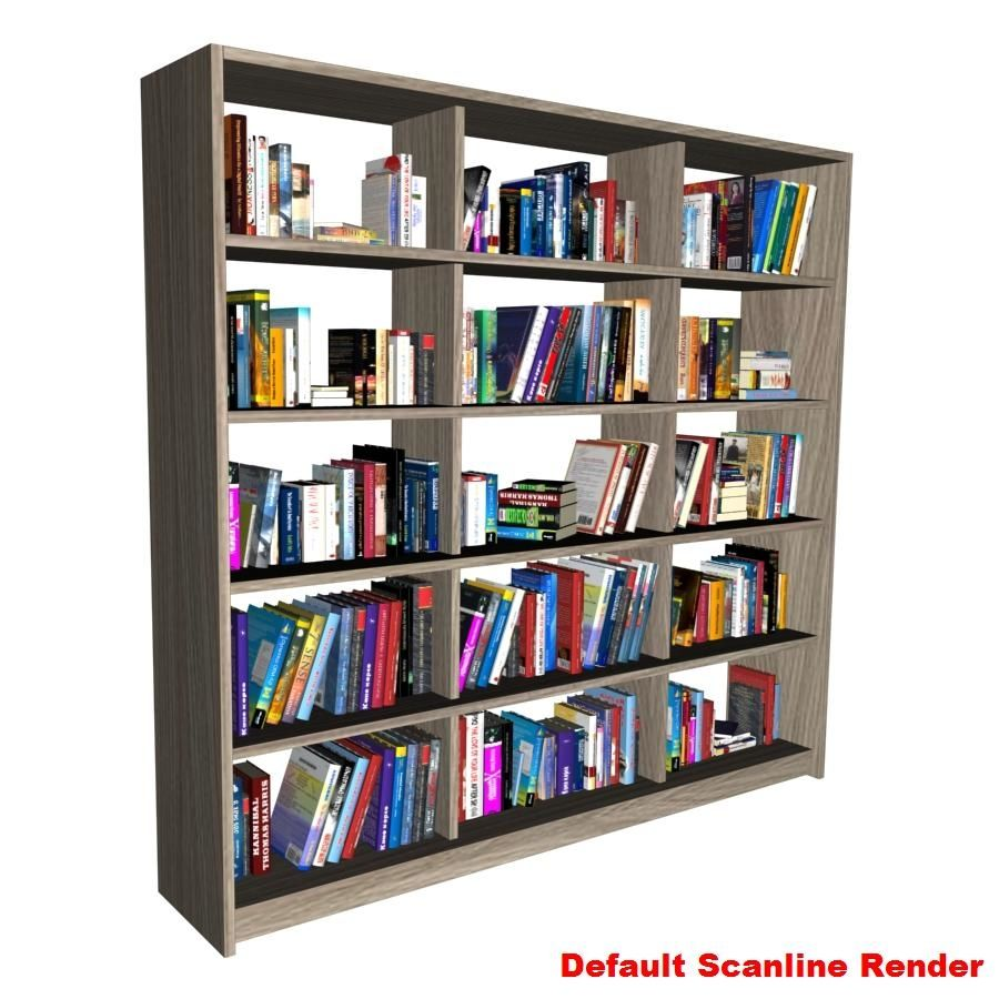 bokhylla bokböcker royalty-free 3d model - Preview no. 11