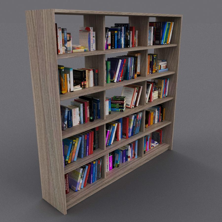 bokhylla bokböcker royalty-free 3d model - Preview no. 9