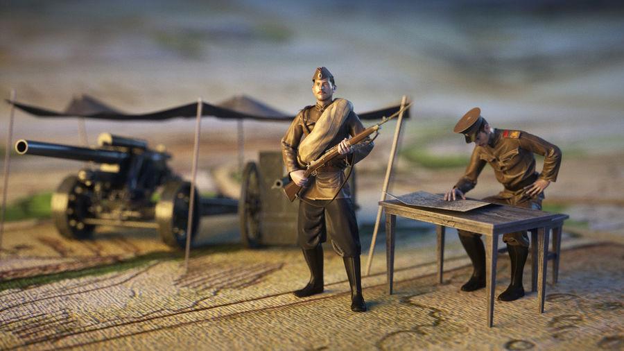 兵士WW1 royalty-free 3d model - Preview no. 1