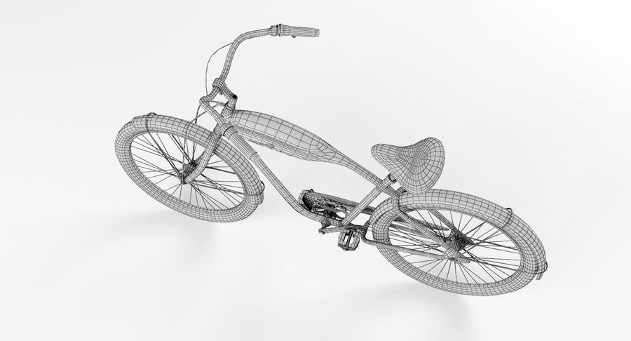 Retro Bicycle royalty-free 3d model - Preview no. 10