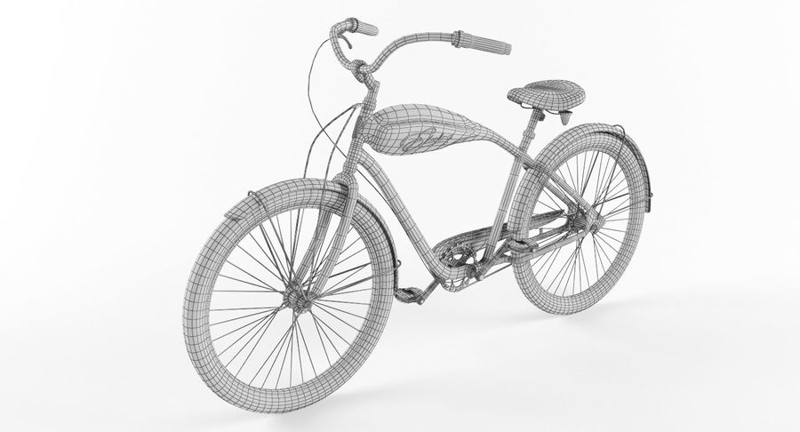Retro Bicycle royalty-free 3d model - Preview no. 9