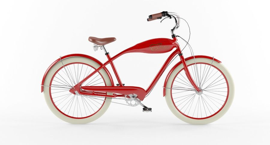 Retro Bicycle royalty-free 3d model - Preview no. 7