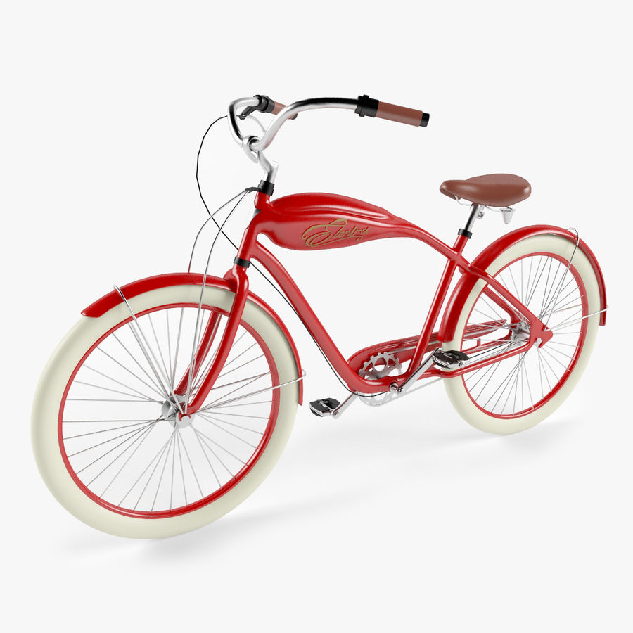 Retro Bicycle royalty-free 3d model - Preview no. 1