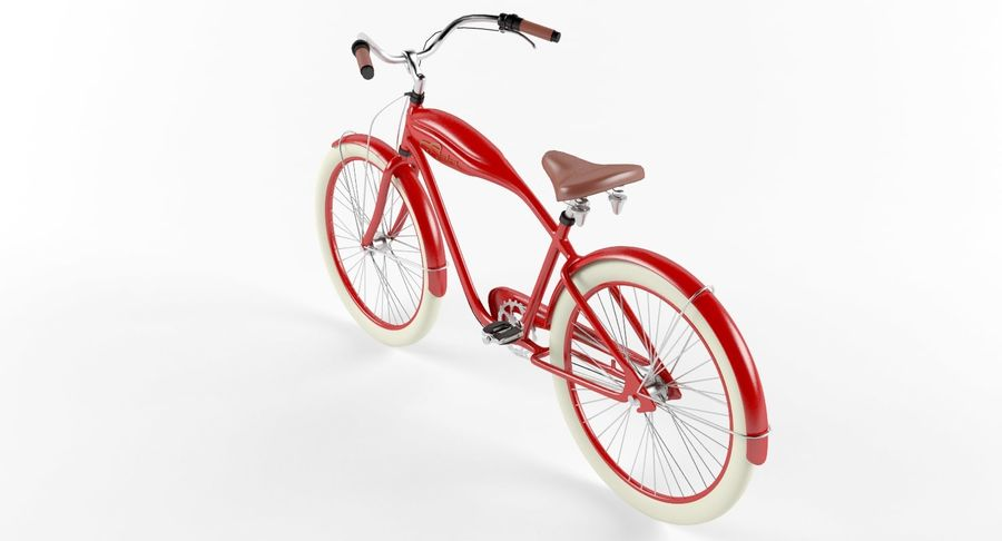 Retro Bicycle royalty-free 3d model - Preview no. 5
