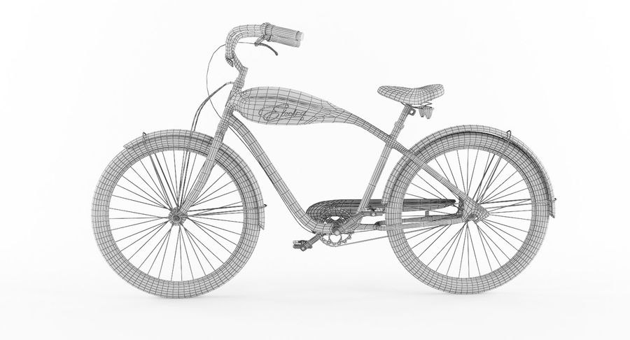 Retro Bicycle royalty-free 3d model - Preview no. 8