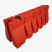 Plastic Jersey Barricade 01 3d model