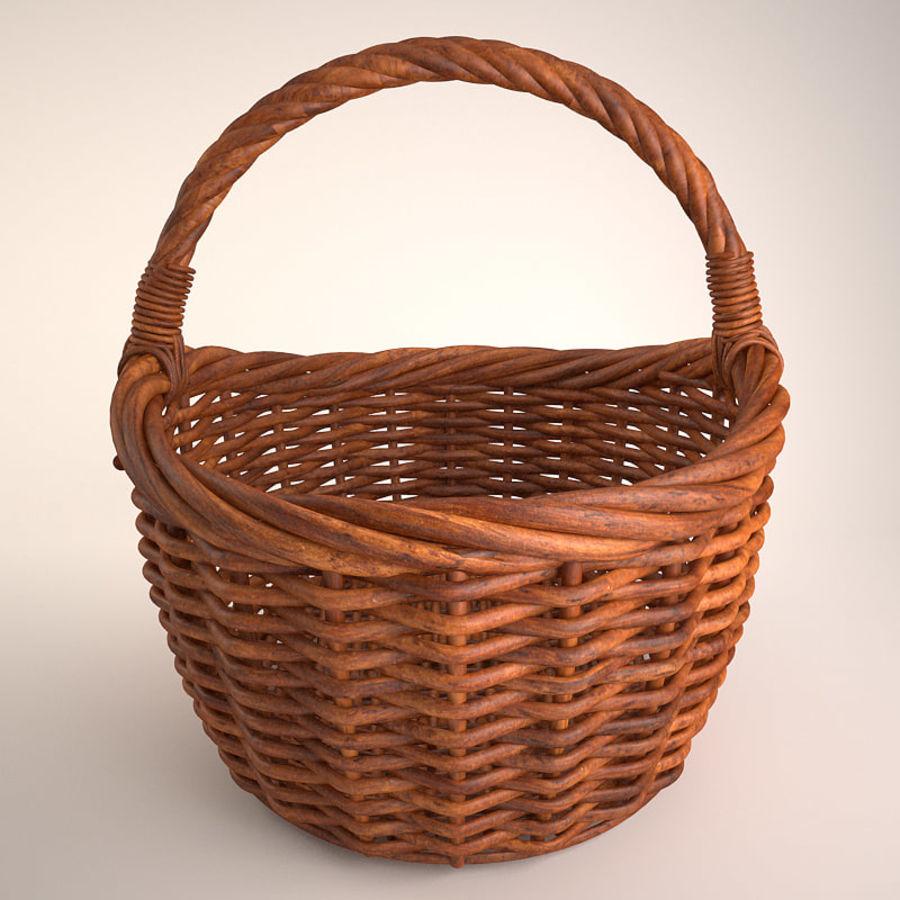 Basket 3 royalty-free 3d model - Preview no. 3