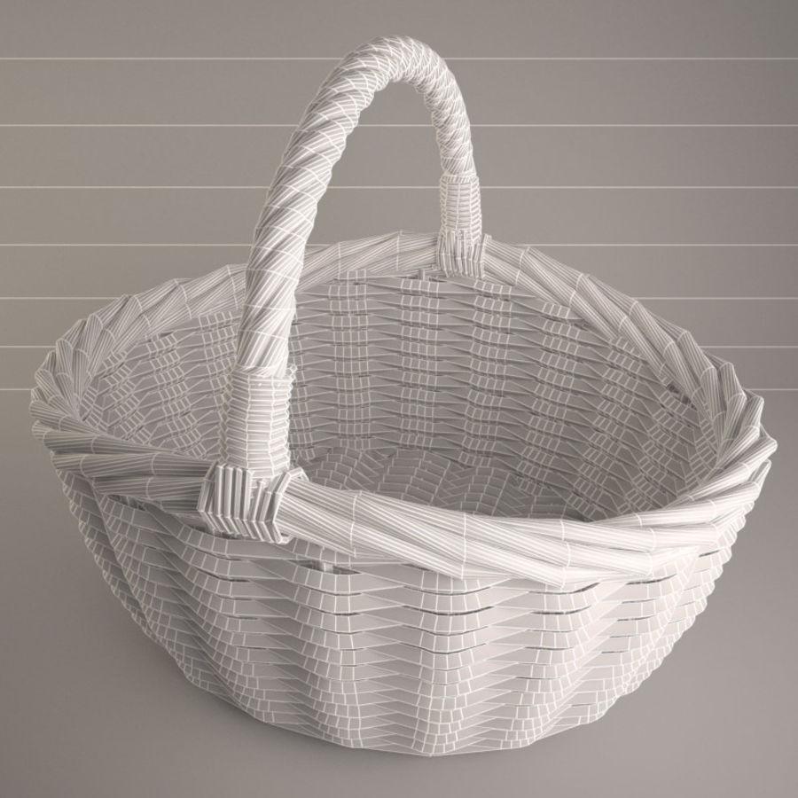 Basket 3 royalty-free 3d model - Preview no. 5