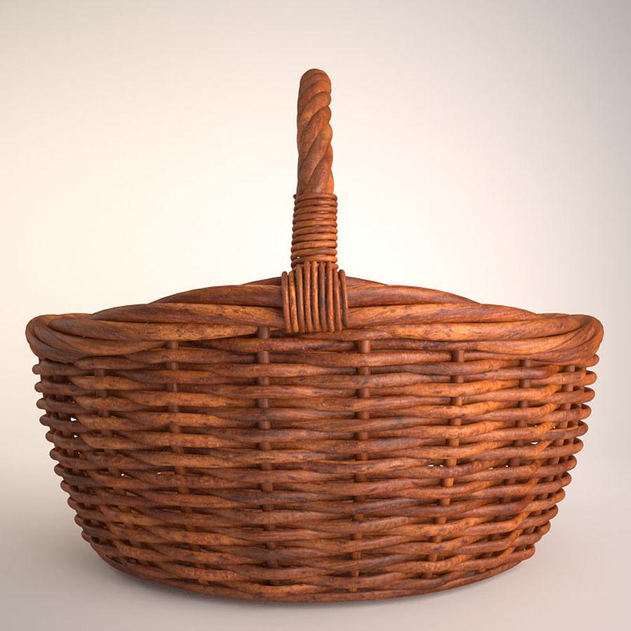 Basket 3 royalty-free 3d model - Preview no. 2