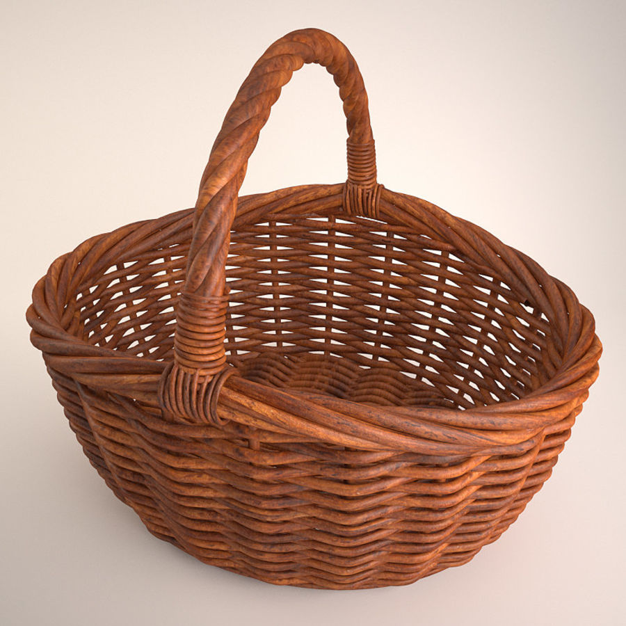 Basket 3 royalty-free 3d model - Preview no. 4