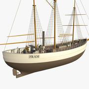 FRAM Historical Ship 3d model