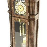 Relógio Antigo Permanente 3d model