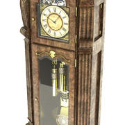 Oude staande klok 3d model
