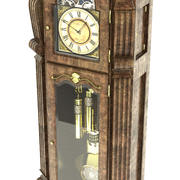 Старые стоящие часы 3d model
