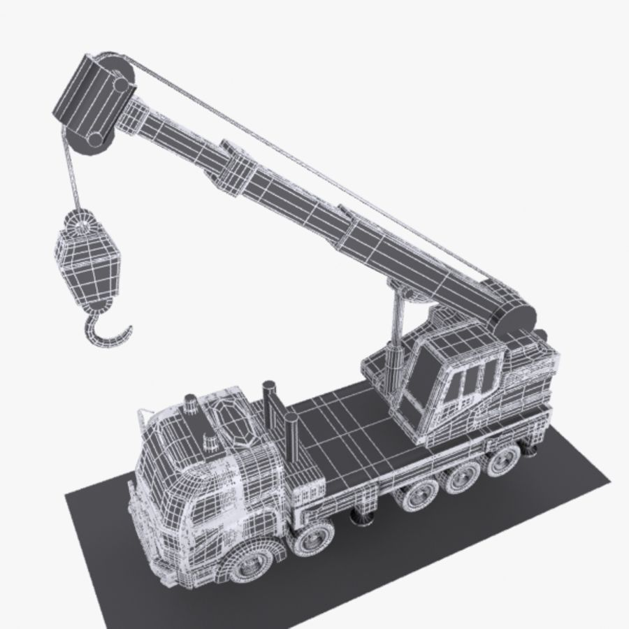 Cartoon Mobile Crane royalty-free 3d model - Preview no. 13
