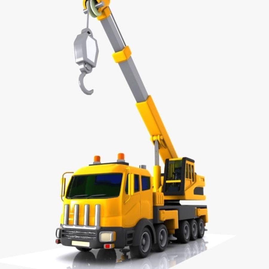 Cartoon Mobile Crane royalty-free 3d model - Preview no. 6