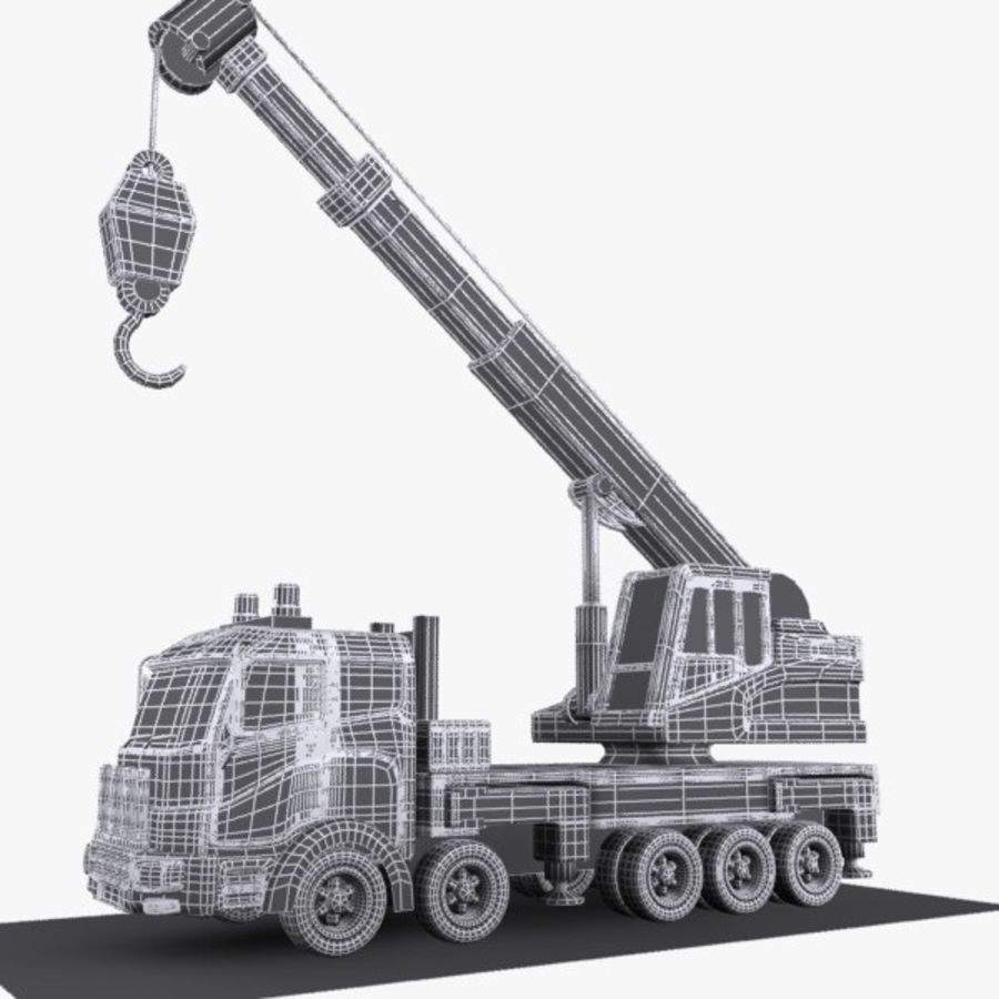 Cartoon Mobile Crane royalty-free 3d model - Preview no. 12