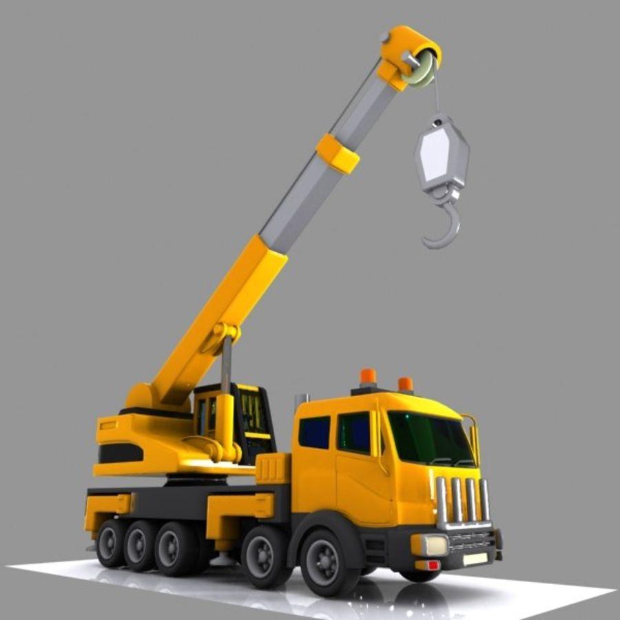 Cartoon Mobile Crane royalty-free 3d model - Preview no. 2