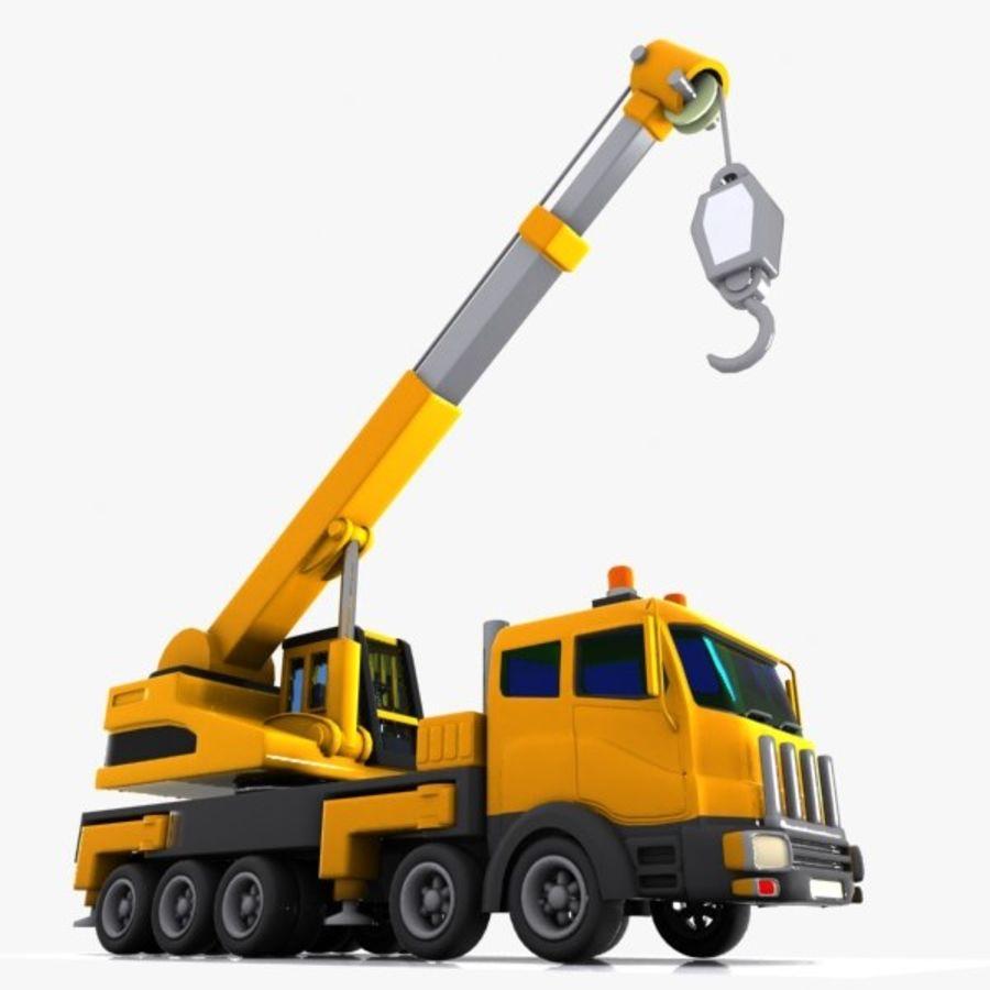 Cartoon Mobile Crane royalty-free 3d model - Preview no. 4