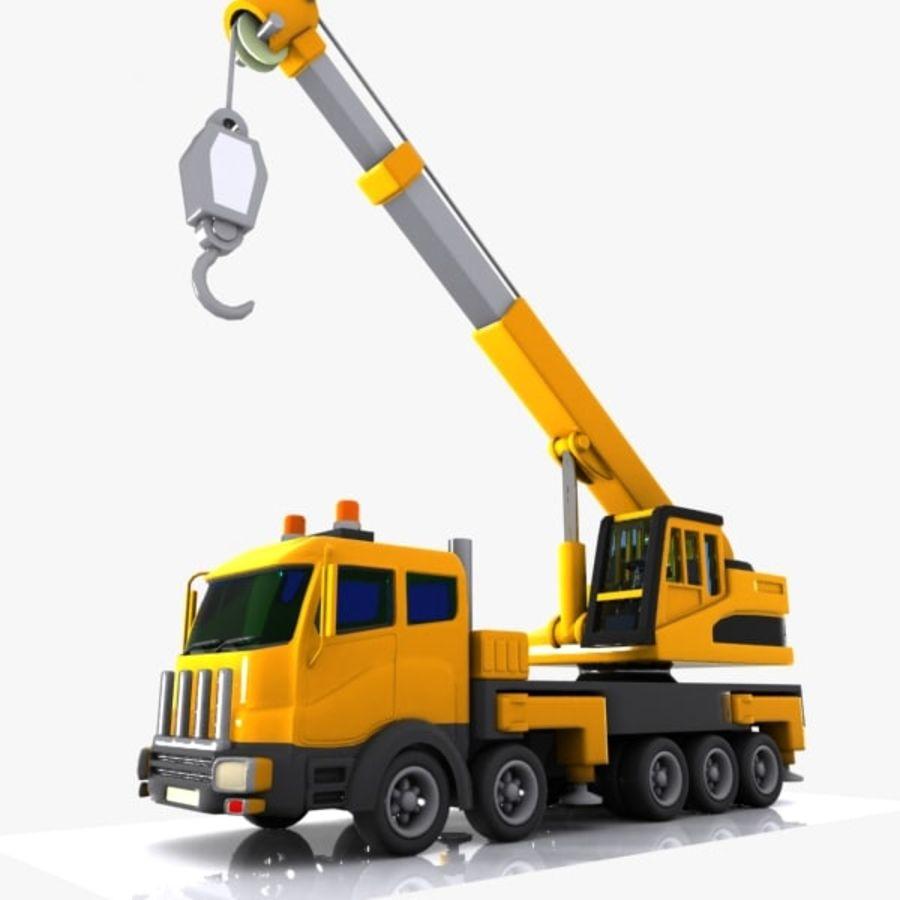 Cartoon Mobile Crane royalty-free 3d model - Preview no. 7
