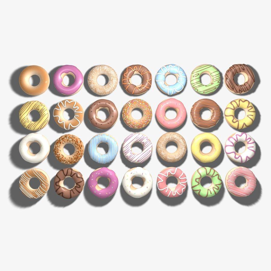 Ring Doughnuts royalty-free 3d model - Preview no. 1